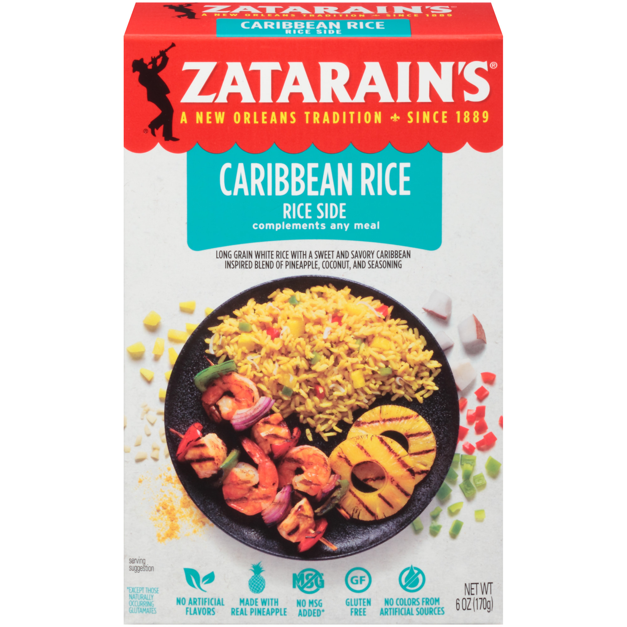 Zatarain's Caribbean Rice Mix, 6 oz