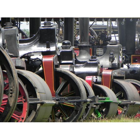 Canvas Print Roller Steam Old Power Traction Engine Stretched Canvas 10 x