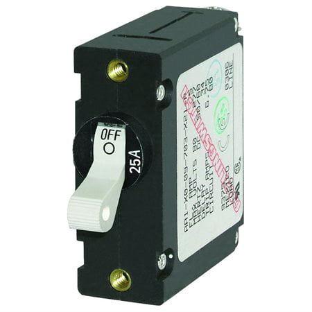 Blue Sea Systems A Series Black Single Pole Toggle Circuit Breaker