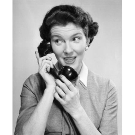 Posterazzi SAL25544489 Close-Up of a Young Woman Talking on the Telephone Poster Print - 18 x 24 in. - image 1 of 1
