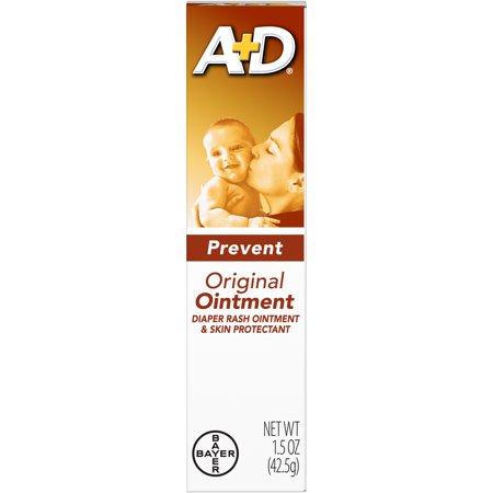 A+D Original Diaper Rash Ointment, Skin Protectant, 1.5 Ounce Tube