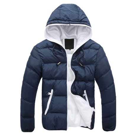 7a8c56201050 Babula - Babula Men Cotton Down Jacket Winter Warm Ski Snow Hooded Coat -  Walmart.com