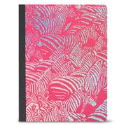 Pen + Gear Foil Poly Composition Book, Wide Ruled, 80 Sheets, Zebras