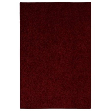 Saturn Collection Pet Friendly Burgundy 9'x12' - Area Rug