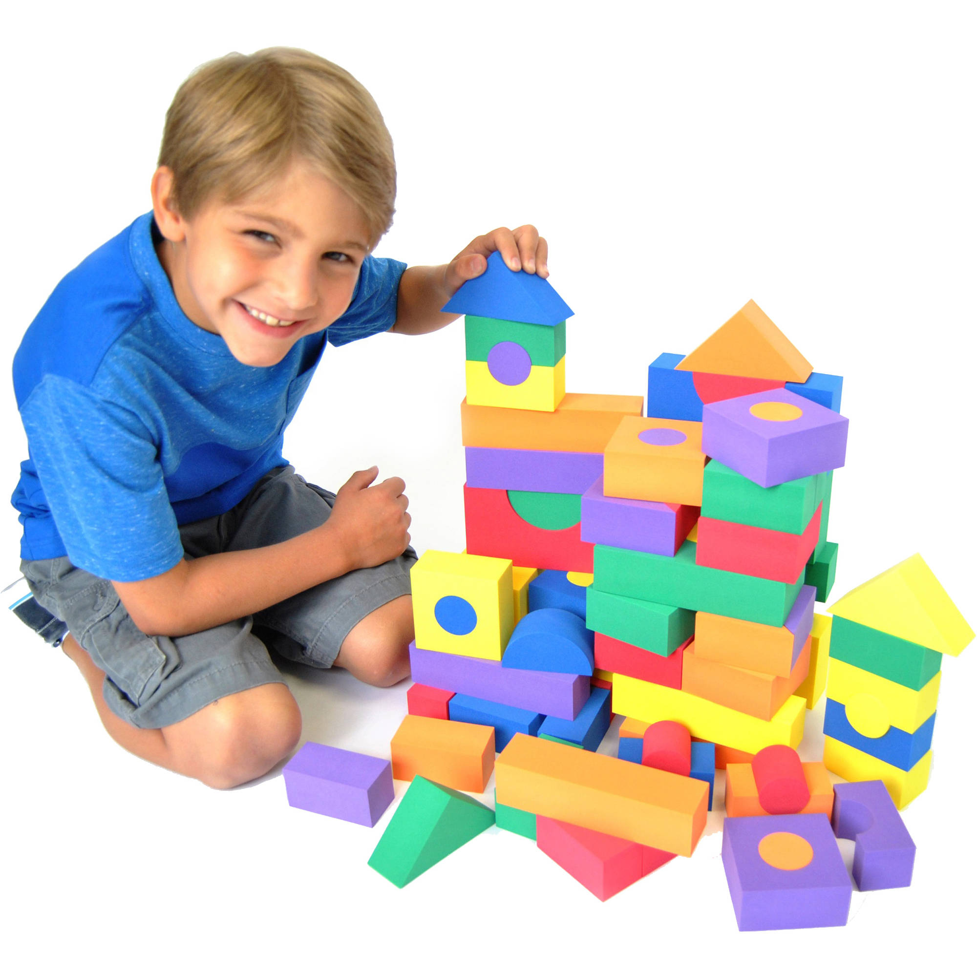 Non-Toxic Foam Wonder Blocks for Children 100pk