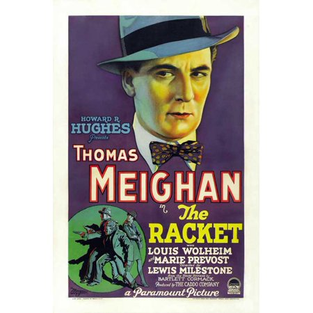 Racket (1928) Laminated Movie Stretched Canvas 10 x 14