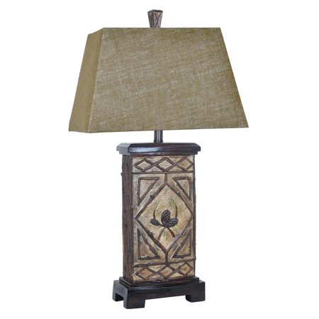 Pinecone Lodge 33-Inch Table Lamp, Rustic Branch