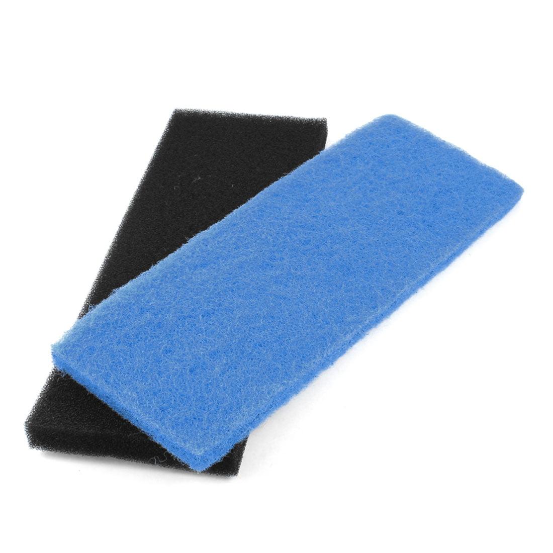 Unique Bargains Black Blue Reusable Sponge Filter Fresh Water Aquarium Filter 12.6 Long 2 Pcs