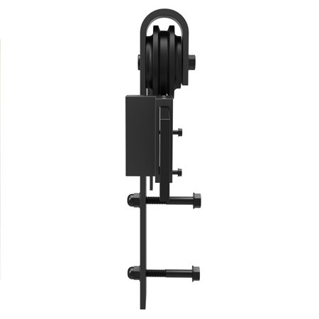 6FT Heavy Duty Sturdy Sliding Barn Wood Door Basic Sliding Track Rail Hardware Kit Antique Style Super Smoothly and Quiety POM Pulley Wheels Hanger Roller Easy to Stall with Installation Manual - image 2 of 6