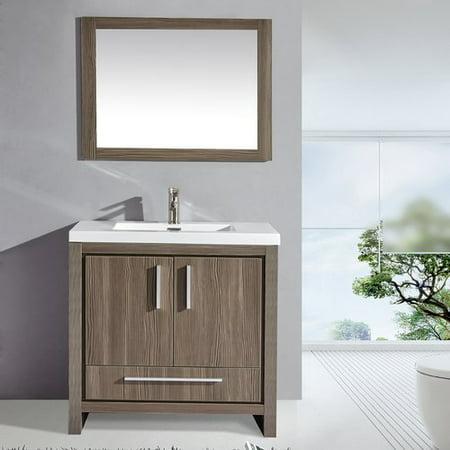 Excellent Mtd Vanities Miami 36 Single Sink Bathroom Vanity Set With Mirror Home Interior And Landscaping Ologienasavecom