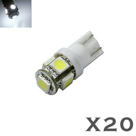 20X T10 921 5050 Chip LED License Plate Interior SMD Light Bulbs 6000K -