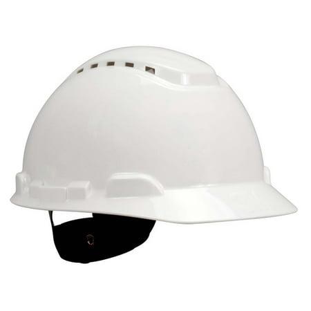 3M Hard Hat H-701V, Vented White 4-Point Ratchet - White Construction Helmet