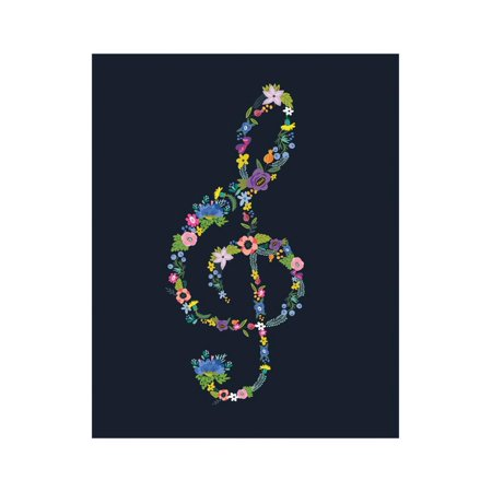 Groovy Treble Clef Laminated Print Wall Art By Tammy Apple