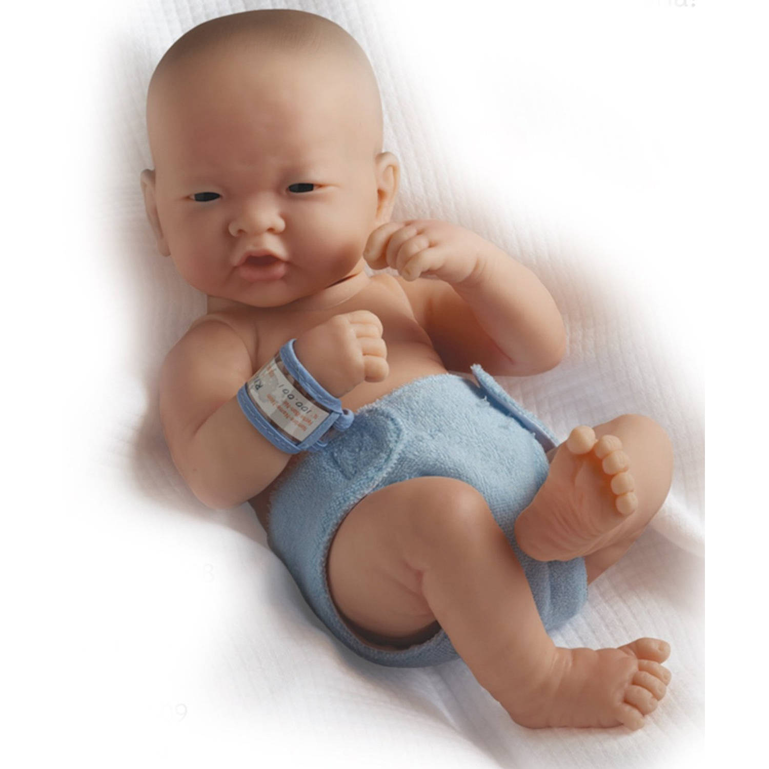 "La Newborn 15"" All-Vinyl Life-Like ""First Day"" Baby Doll, Real Boy, Asian"