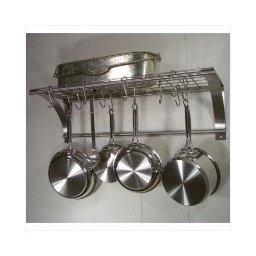 Bundle-24 Rainsford & Gale Epicure Stainless Steel Wall Pot Rack Set (2 Pieces)