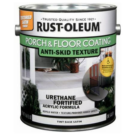 Rust-Oleum 246745 Gallon Satin Porch & Floor Urethane Finish, Anti-Skid Texture Tint -