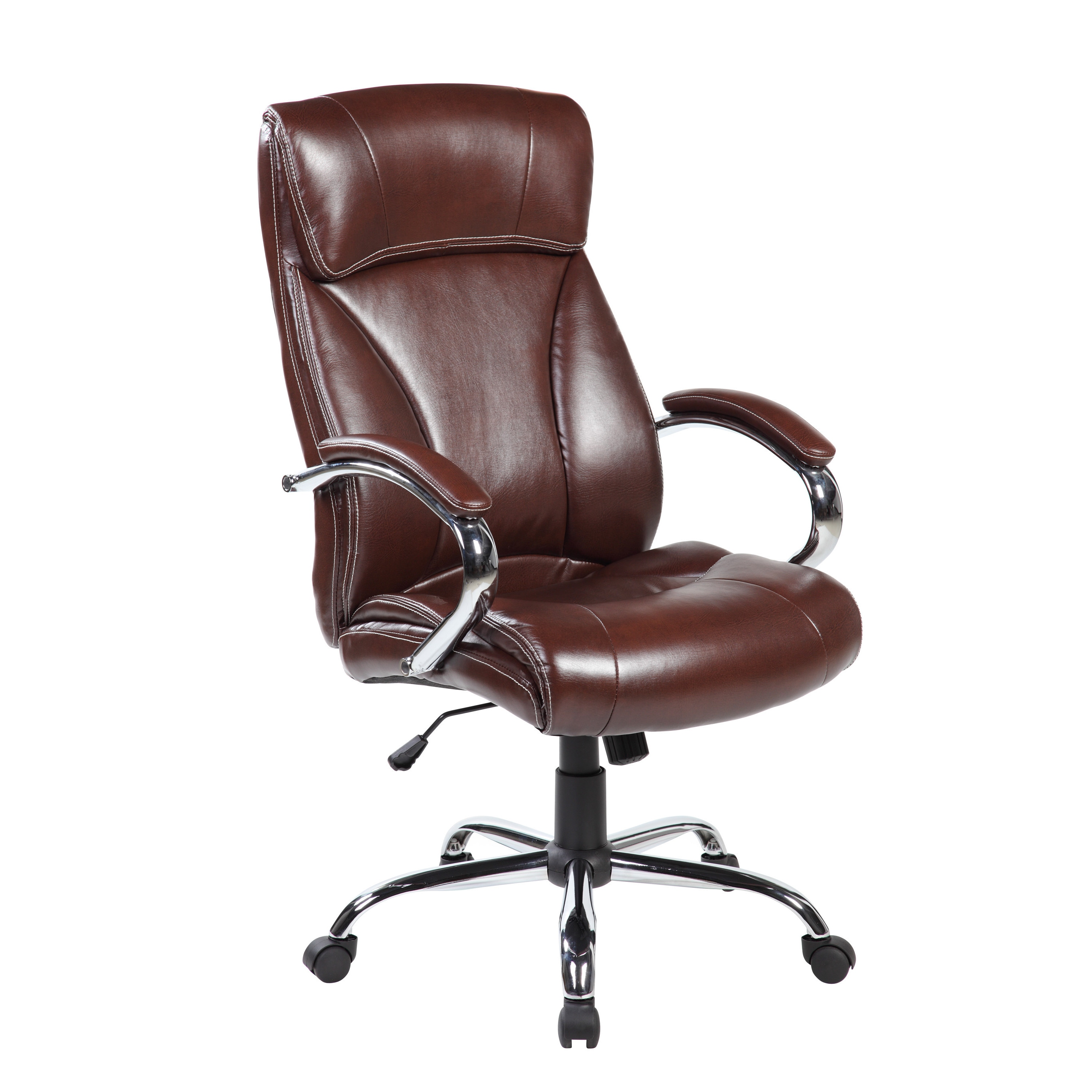 United Chair Industries LLC Brown Ergonomic High Back Leather Executive  Office Desk Chair