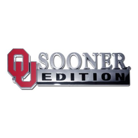 University of Oklahoma Edition Chrome Emblem