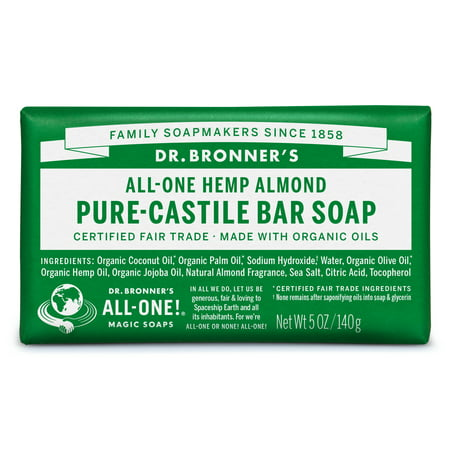(2 pack) Dr. Bronner's Almond Bar Soap Almond Organic Bar Soap