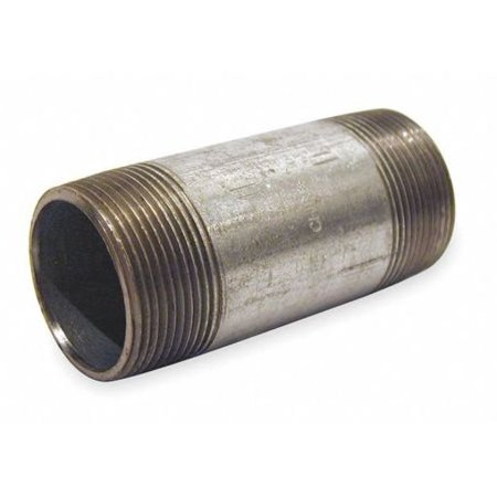 2  MNPT x 2-1/2  TBE Galvanized Steel Pipe Nipple Sch 40 In addition to galvanized pipes, Zoro also carries galvanized pipe fittings and other plumbing supplies. Here are some important details for Beck Galvanized Steel Pipe Nipple. Pipe Type: Pipe Nipple, Overall Pipe Length: 2-1/2 , Pipe Schedule: 40.