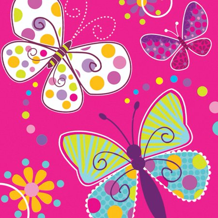 Butterfly Sparkle Luncheon Napkins (16 - Luncheon Napkins