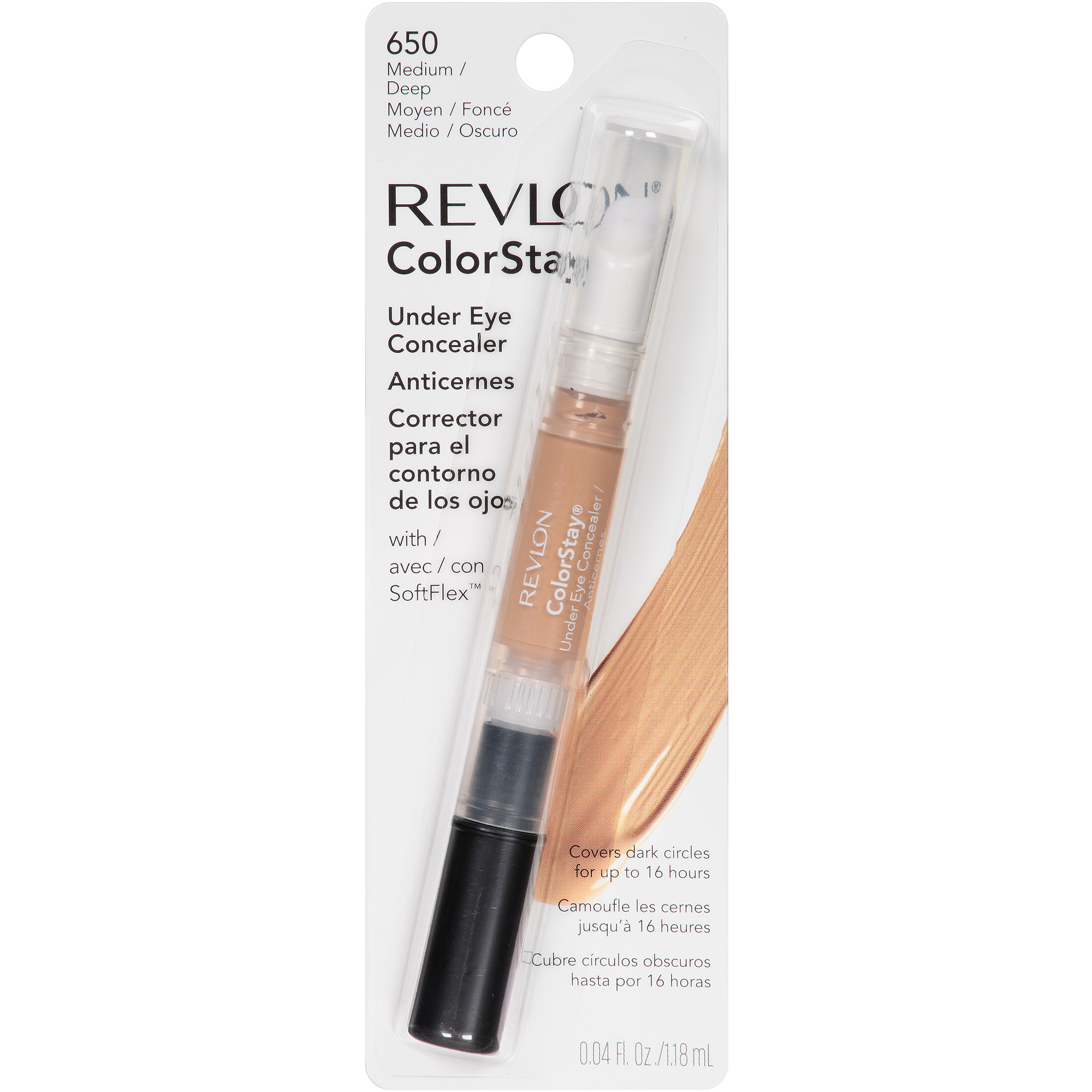 Revlon ColorStay Under Eye Concealer, 650 Medium/Deep, 0.04 fl oz