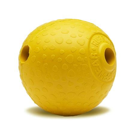 - - Huckama, Dandelion Yellow, SHARE MORE FUN: The Huckama's unique shape is fun to throw and bounces erratically, creating a more engaging.., By RUFFWEAR