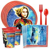 Captain Marvel Standard Tableware Kit with Favor Cup (Serves 8)