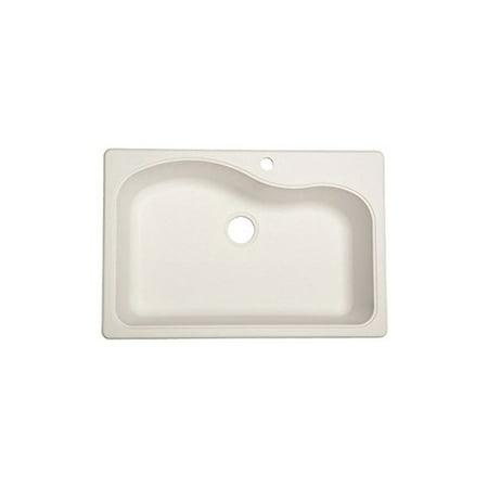 FRANKE KITCHEN SYSTEMS LLC SP3322-1 WHT22x33 Single Bowl Sink
