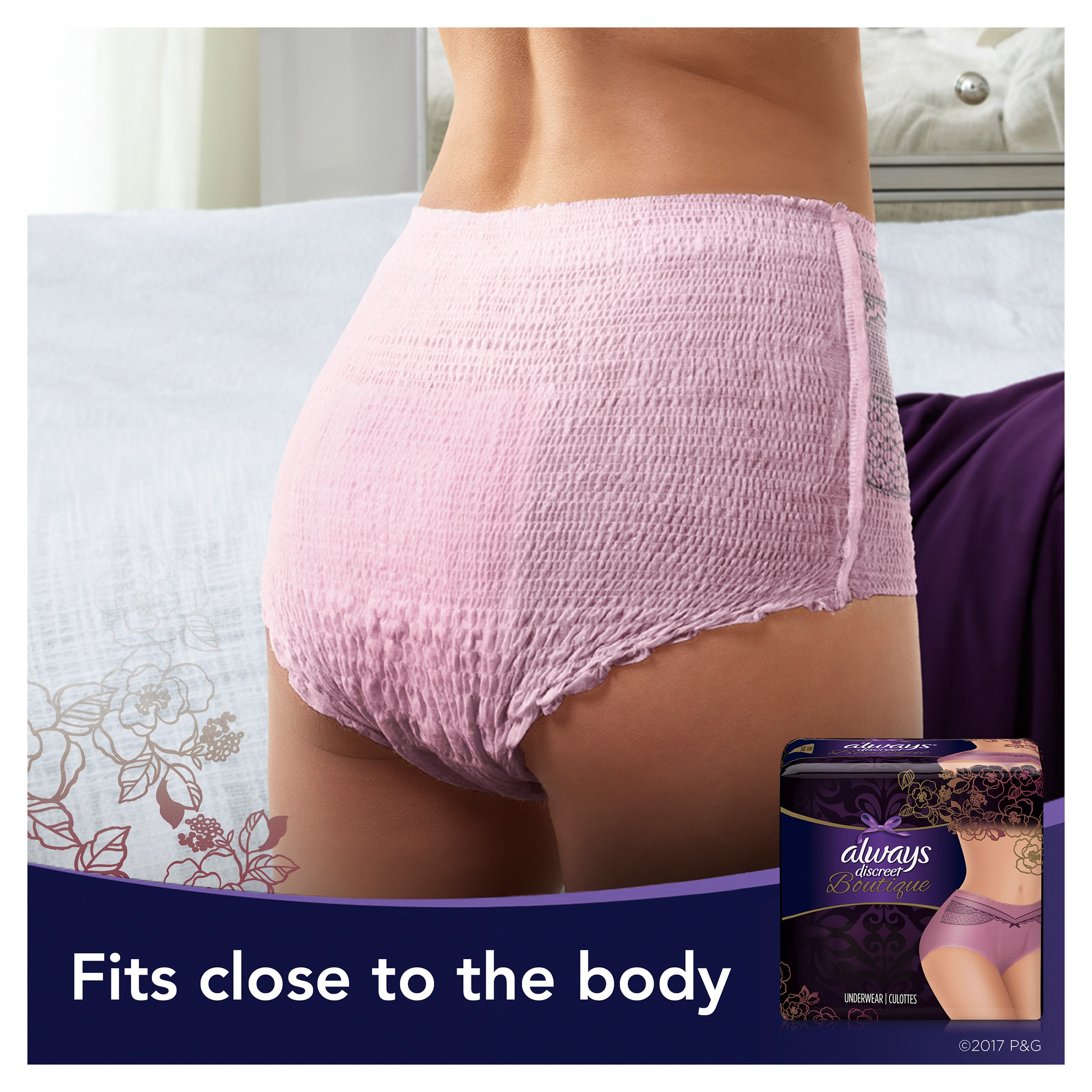 Always Discreet Boutique, Incontinence Underwear for Women, Maximum ...