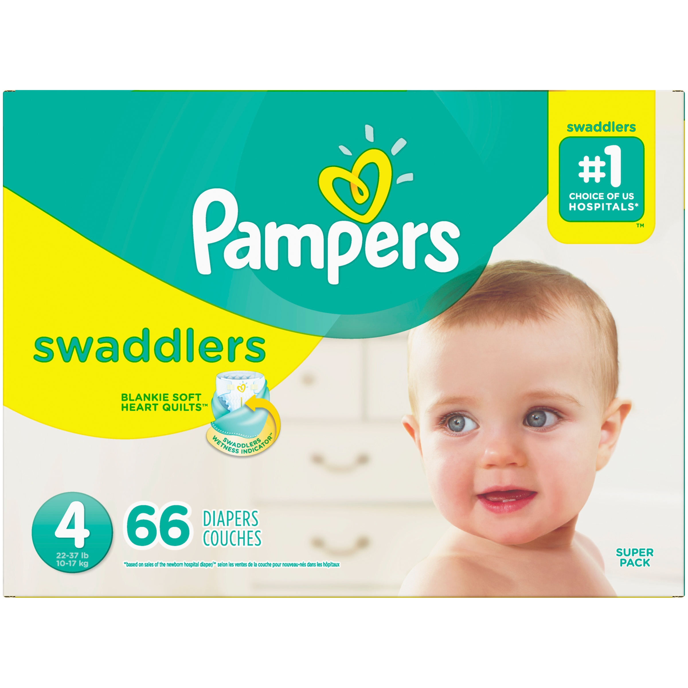 Pampers® Swaddlers Diapers Size 4 66 Count