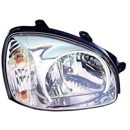 2003-2006 Hyundai Santa Fe  Aftermarket Passenger Side Front Head Lamp Assembly 9210226251 CAPA