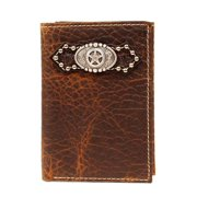 Ariat Western Wallet Mens Trifold Star Distressed Brown A3516002
