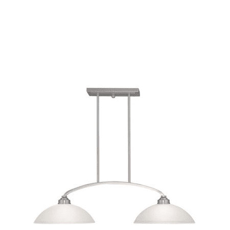 Island 2 Light With Satin Glass Brushed Nickel size 13 in 200 Watts - World of - Satin Nickel Kitchen Island Light