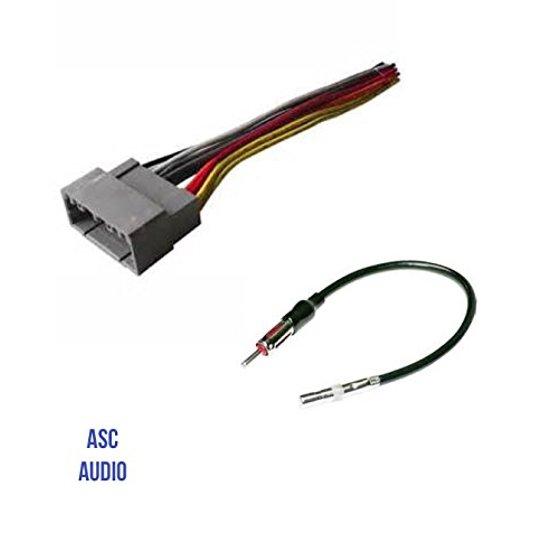 Asc Audio Car Stereo Wire Harness And Antenna Adapter To Install An