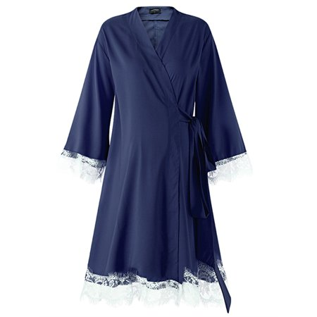 Lace Maternity Sleeping Dress Breathable Long Sleeve Comfy Robe - Sleeping Beauty Dresses