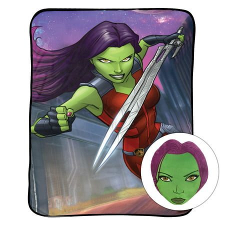 Marvel Gamora Noggin Kid's Bedding Pillow and Blanket Set, 1 Each