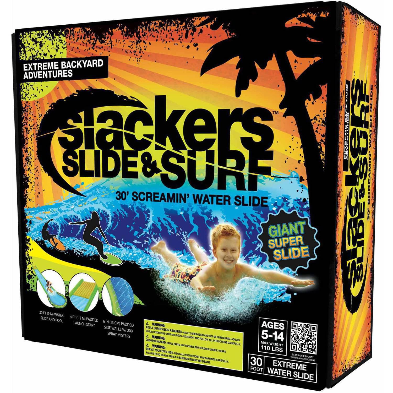 Slackers Slide and Surf Screamin 30' Waterslide Toy by b4 Adventure