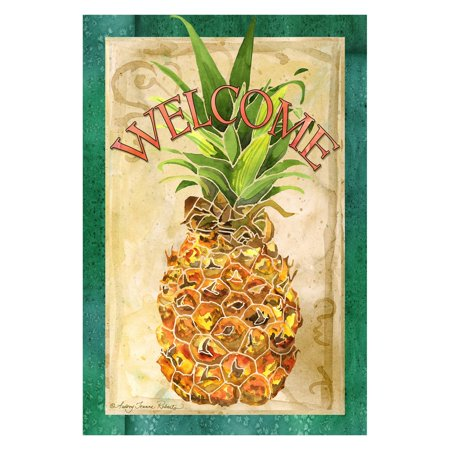 Pineapple Welcome House - Toland Home Garden Pineapple Welcome Flag