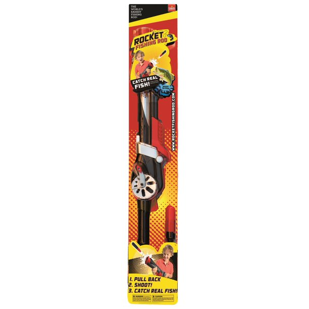Rocket Fishing Rod by Goliath - Ready to Fish Kids Fishing Pole - No casting needed