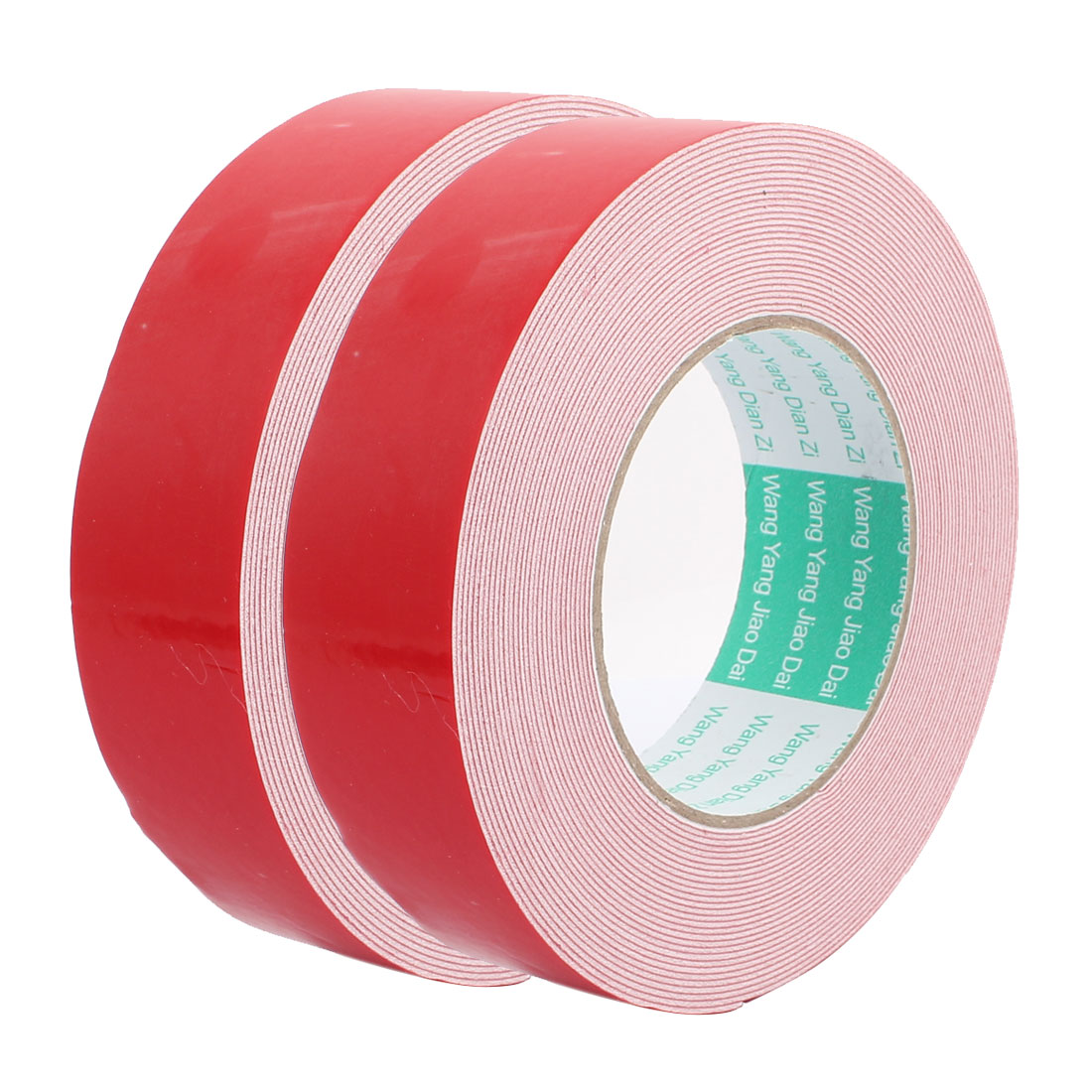 2pcs 10M 35mm x 1mm Dual-side Adhesive Shockproof Sponge Foam Tape Red White