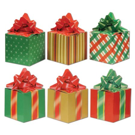 Beistle 3-Pack Christmas Party Favor Boxes, 3-1/4-Inch by 5-3/4-Inch - Cheap Christmas Favors