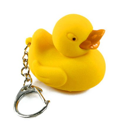 Ducky Duck Light Up LED Novelty Keychain Flashlight, Measures 1 H x 1.5 L By Kikkerland (Novelty Flashlights)