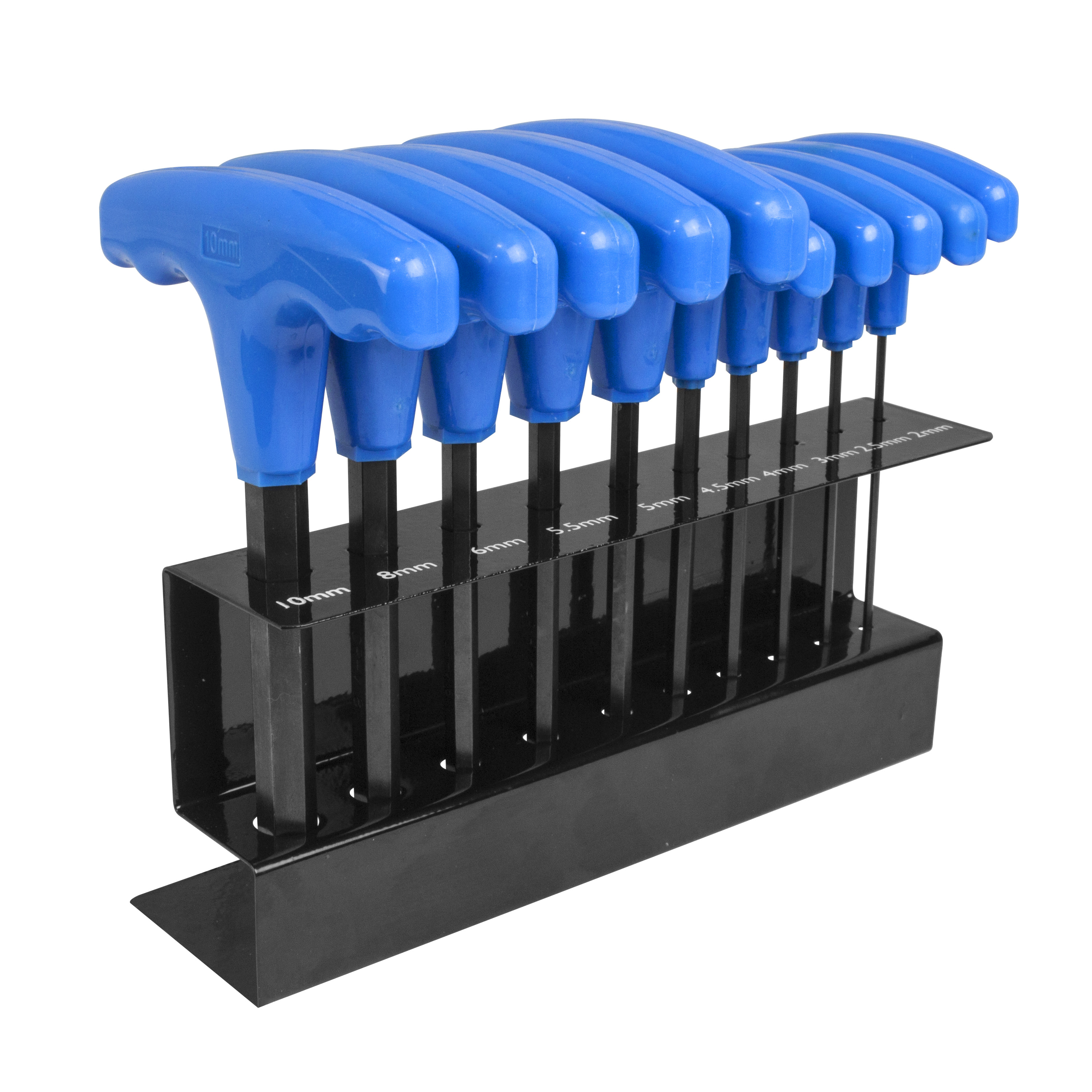 Freeman 10 Piece T-Handle Metric Hex Wrench Set with Metal Stand