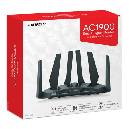 Jetstream AC1900 Dual Band WiFi Gaming Router, 801.11a/b/g/n/ac - Walmart