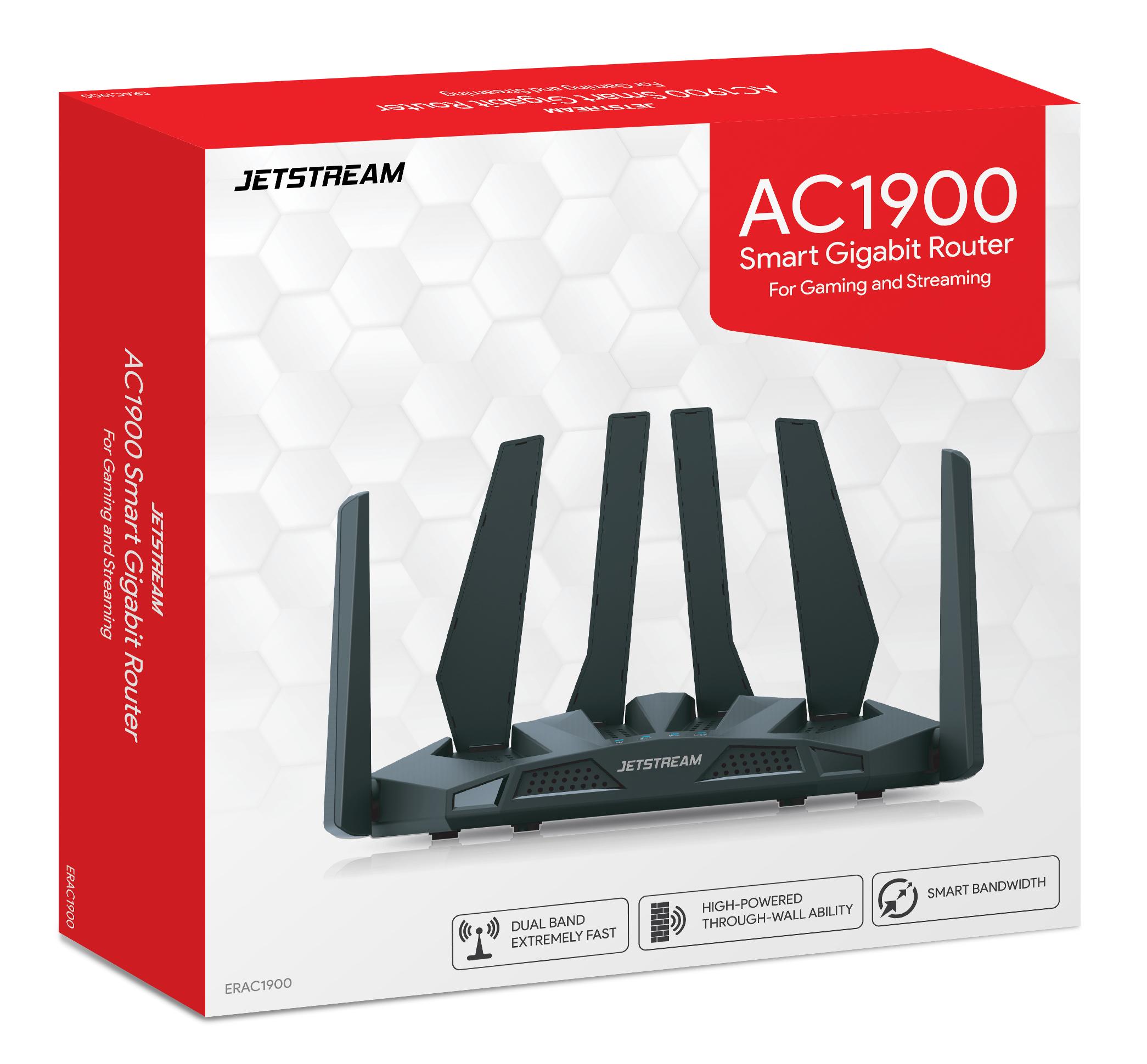 Jetstream AC1900 Dual Band WiFi Gaming Router, 801.11a/b/g/n/ac - Walmart Exclusive!