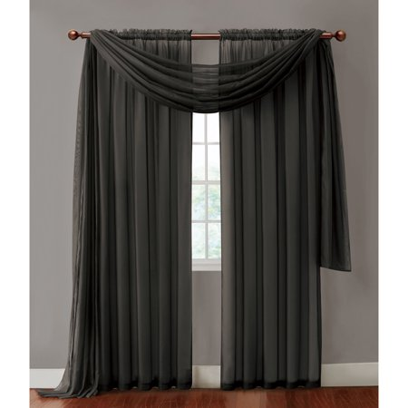 VCNY Home Infinity Sheer Rod Pocket Window Curtains, Multiple Sizes