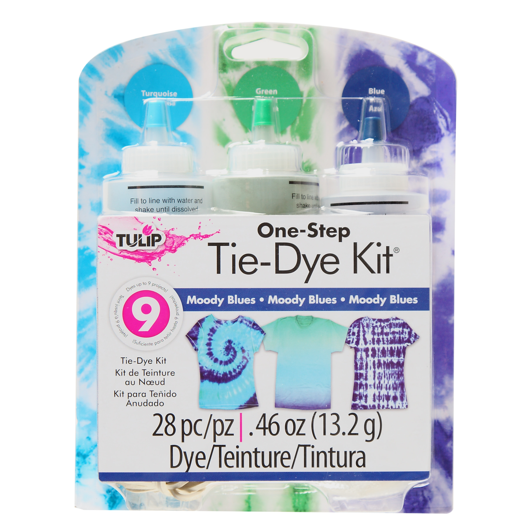 Tulip Moody Blues Tie Dye Kit, 3 Piece
