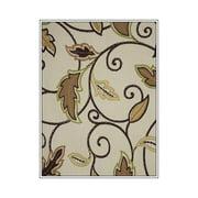 Antigua Ottoman in Royal Oak-Fabric:Scrolling Leaves