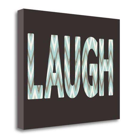 Tangletown Fine Art Laugh Textual Art On Wrapped Canvas